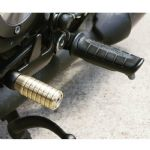 Gear Shifter Lever Peg - Ribbed - Brass. Bobber, Bonneville, Scrambler, Legend, Thunderbird 900.